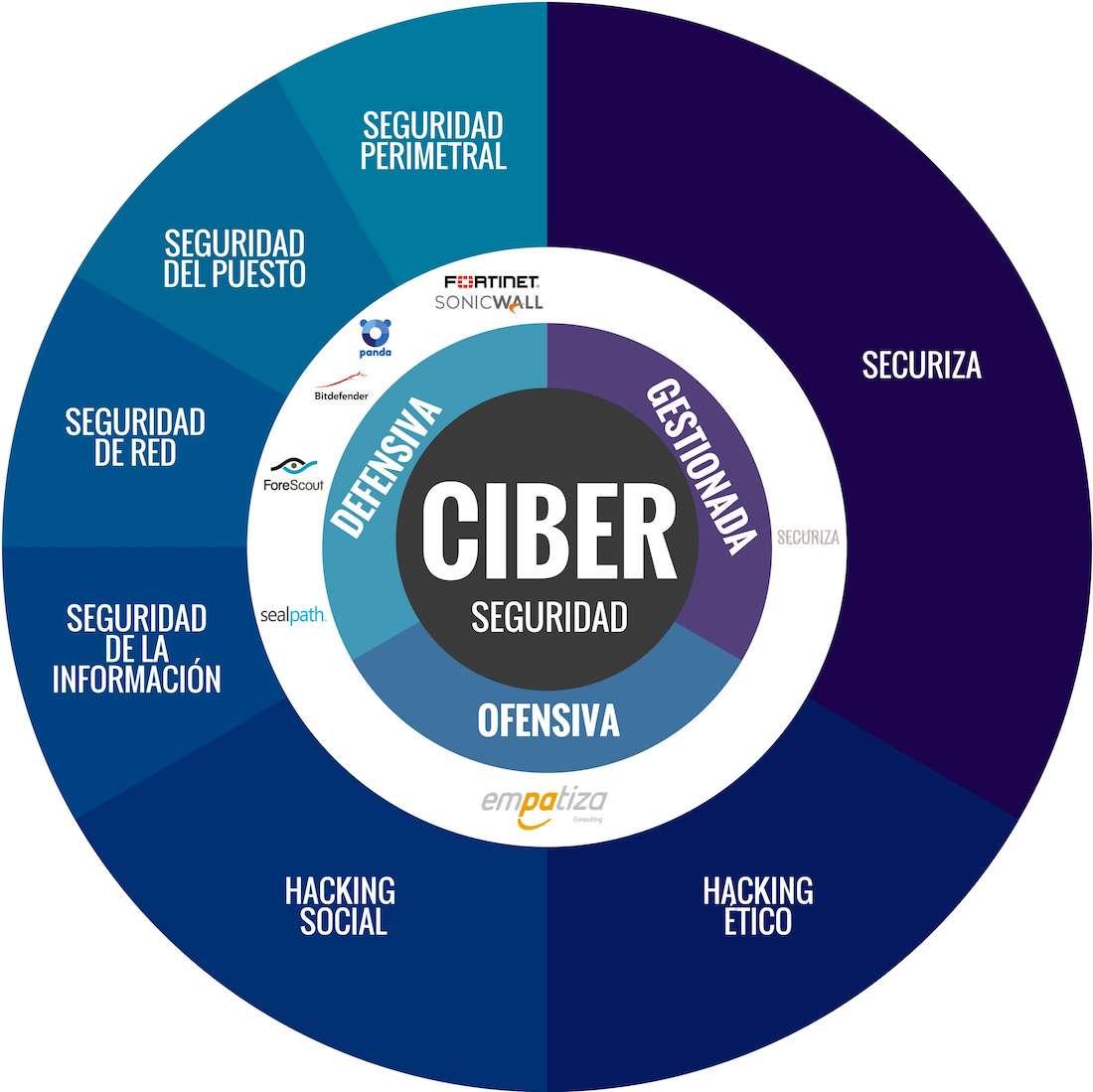 gráfico servicios de ciberseguridad